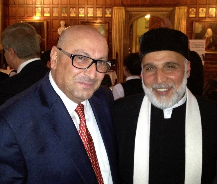 Pictured at left is Manuel E. Hassassian, the Palestinian Authority's chief envoy in London. Credit: Facebook.