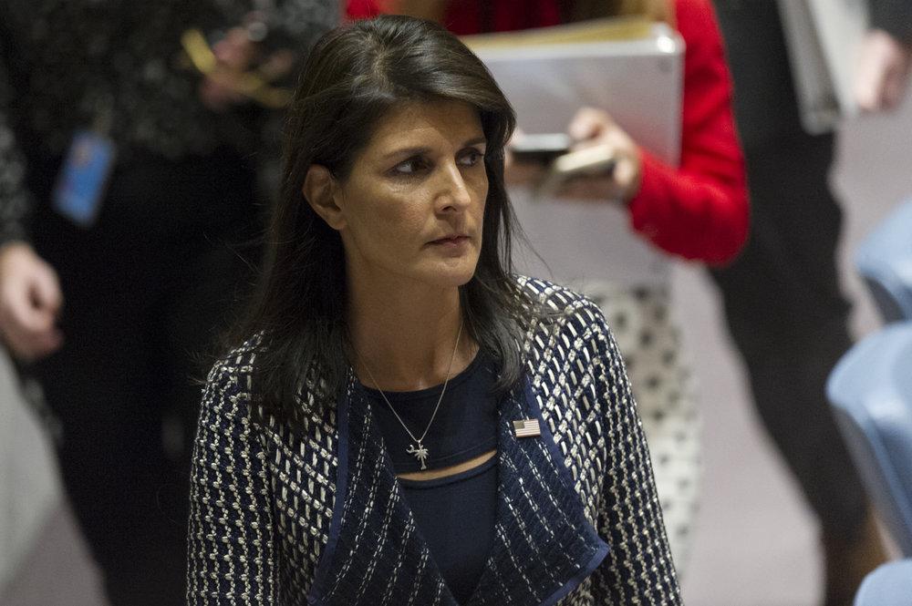 U.S. Ambassador to the United Nations Nikki Haley. Credit:U.N. Photo/Rick Bajornas.