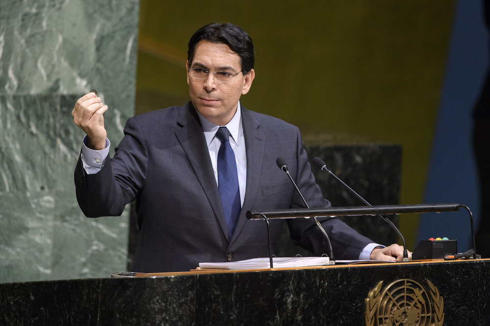 "Israeli Ambassador to the United Nations Danny Danon speaks on Thursday during what the U.N. General Assembly described as its ""Tenth Emergency Special Session on the illegal Israeli actions in Occupied East Jerusalem and the rest of the Occupied Palestinian Territory."" Credit: U.N. Photo/Manuel Elias."