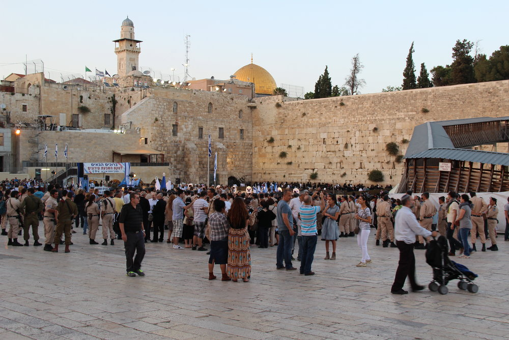 The Western Wall plaza in Jerusalem. Credit: Larisa Sklar Giller via Wikimedia Commons.