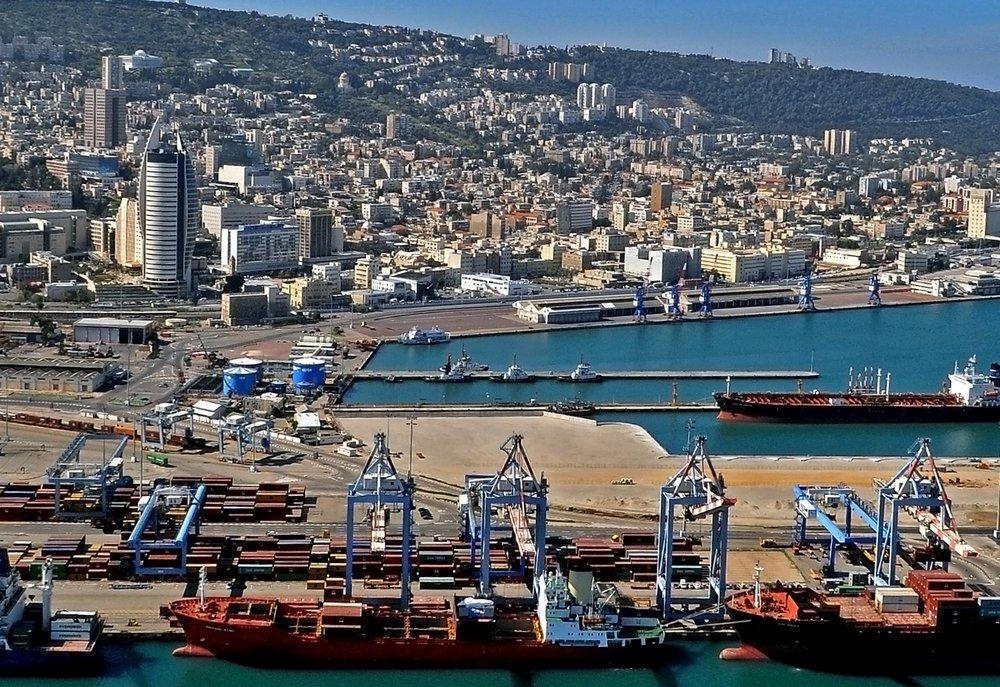 Israel's Haifa port. Credit: Zvi Roger -Haifa Municipality.
