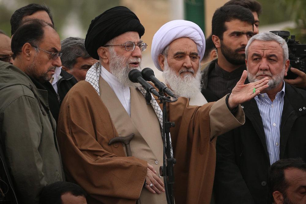 Iranian Supreme Leader Ayatollah Ali Khamenei speaks in Iran's Kermanshah Province in November 2017. Credit:Khamenei.ir via Wikimedia Commons.