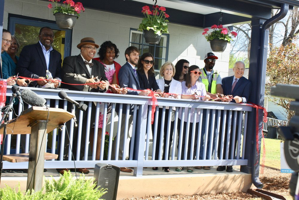 Ribbon-Cutting Celebration Mattie Freeland Community House