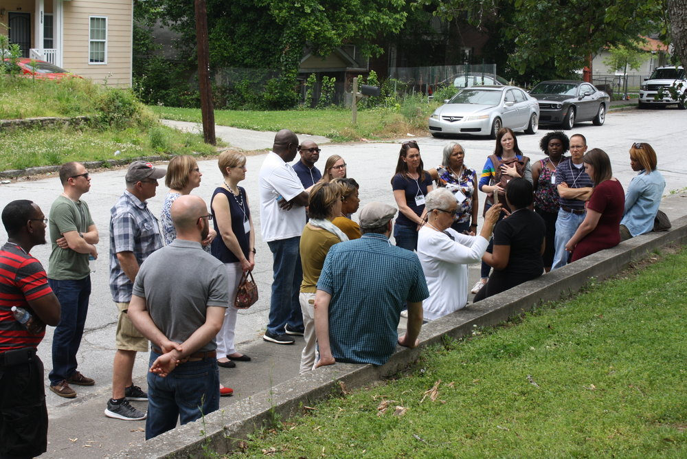 Prayer Walk … Into the City During Back to the Garden … Into the City Justice Conference