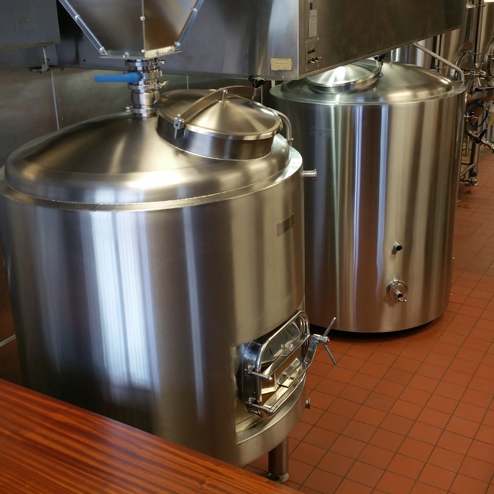 Our beautiful custom-built 7 BBL brewhouse from Bennett Forgeworks