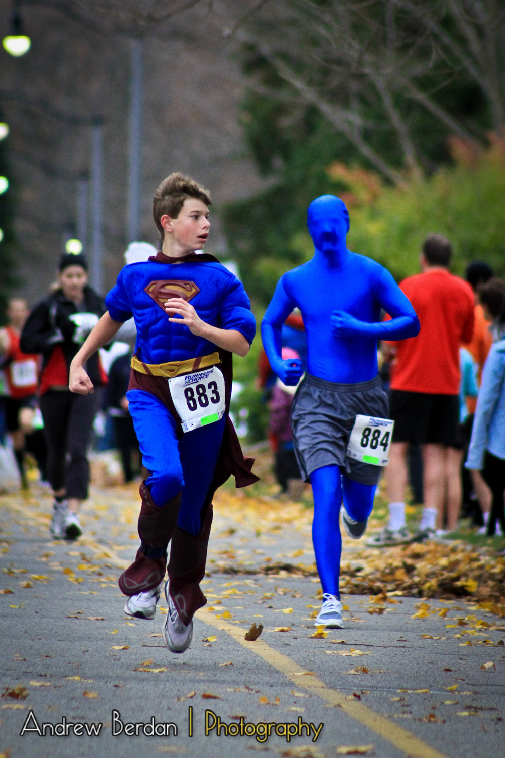 Blue Man Chasing Superman.jpg