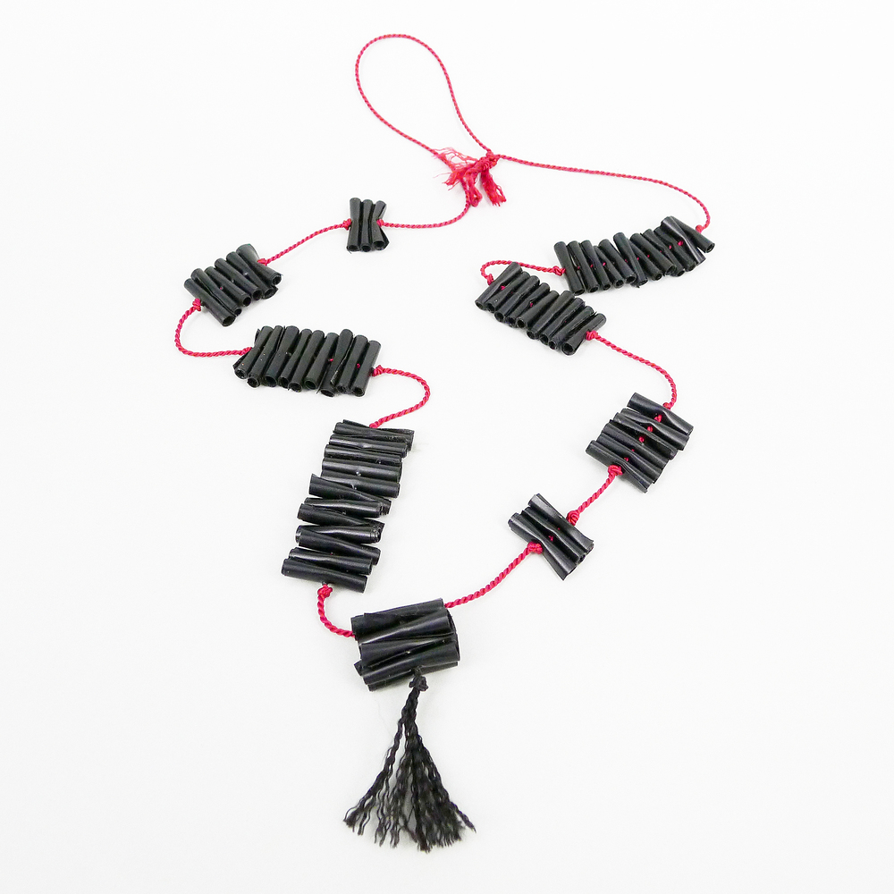 Chenier Necklace, PVC, silk cord