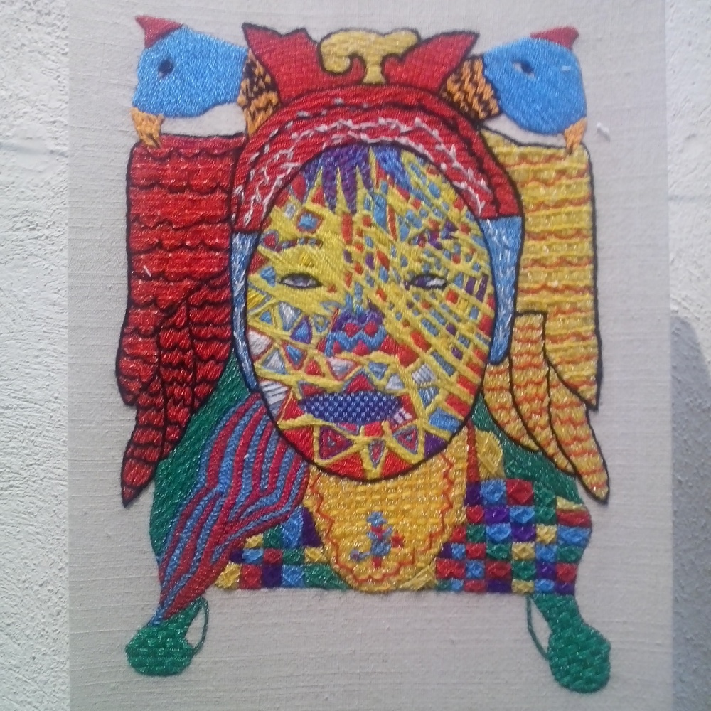 Retro-altarpieces, portraits Zegache, Textile Museum, Oaxaca