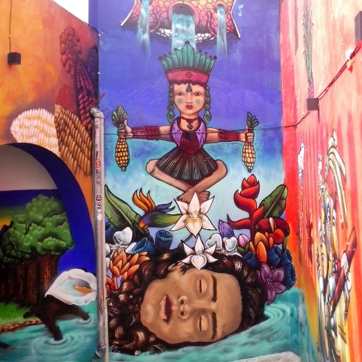 Wall Mural up Fortin Hall in Oaxaca