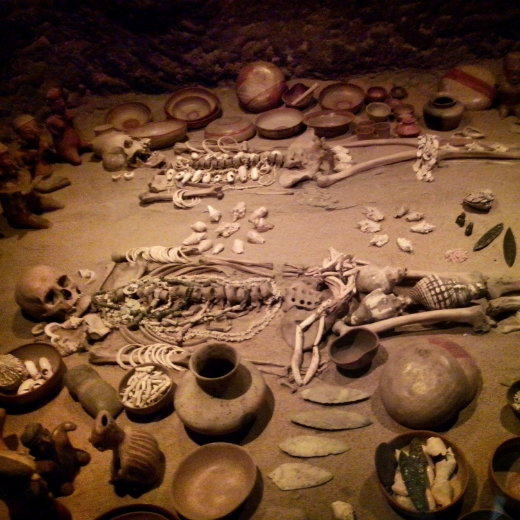 Burial artefacts in the National Museum of Anthropology, Mexico City