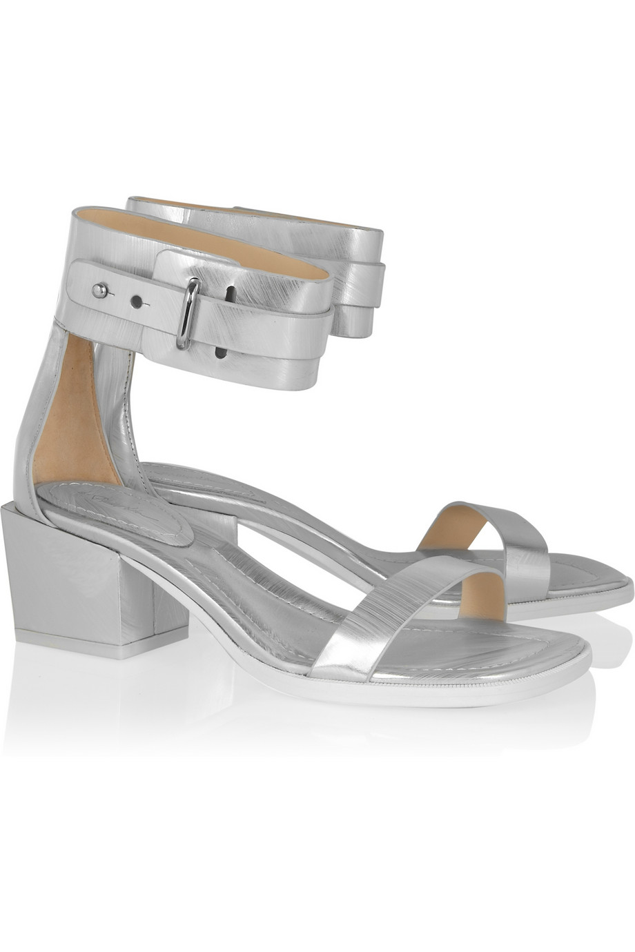 3.1 Phillip Lim coco metallic-leather sandals