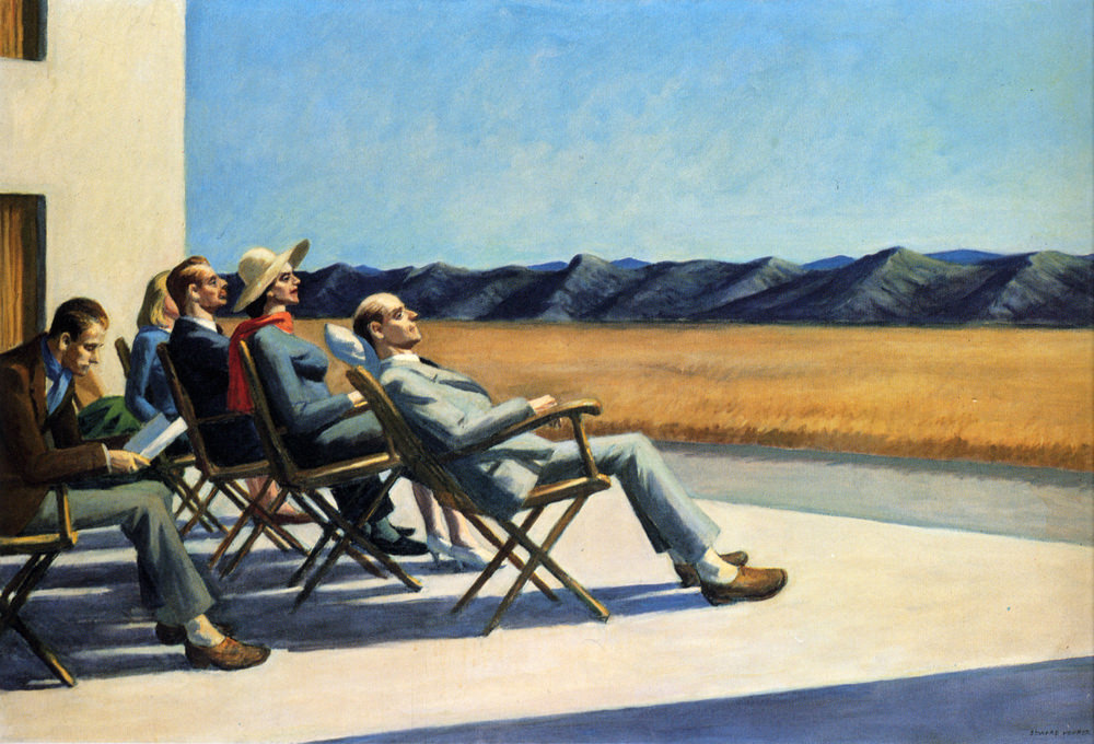 People in the Sun , by Edward Hopper, 1963