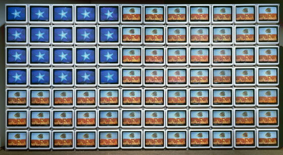 Video Flag Z, by Nam June Paik, 1986