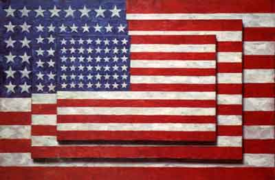 Three Flags , by Jasper Johns, 1958