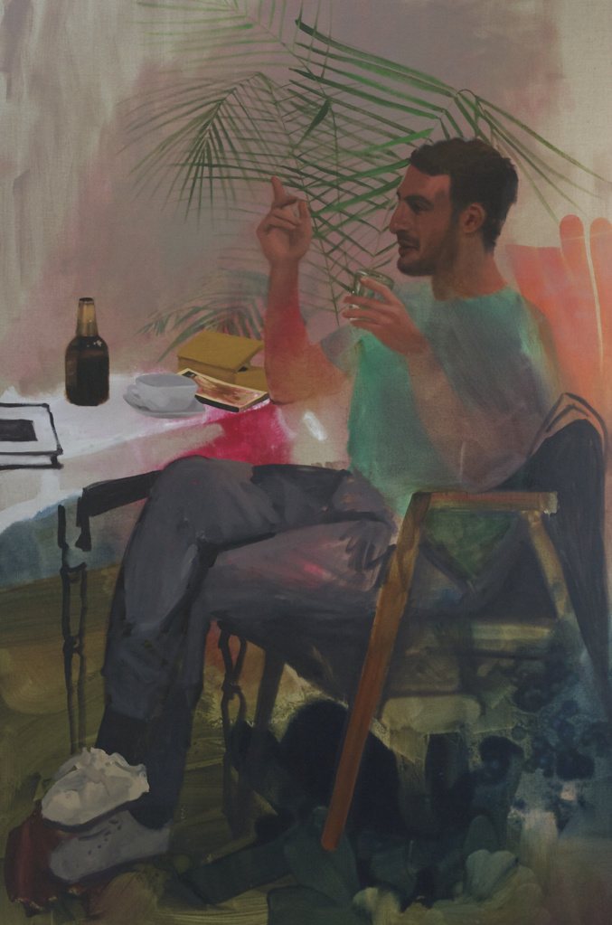 "Peter in Conversation 70"" x 46"""