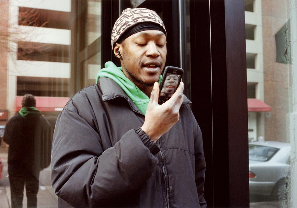 Street Rapper Recording Himself