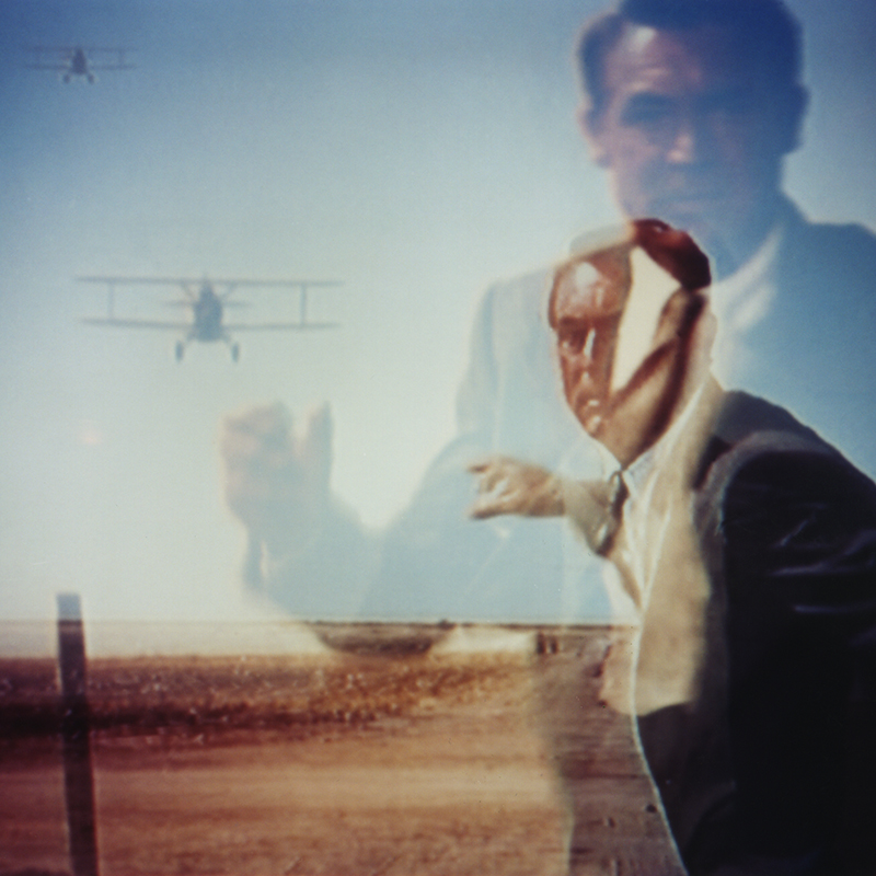 North by Northwest (TV double exposure)
