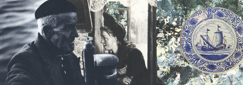 Gracia Haby & Louise Jennison, At Sea, on shore, 2012, collages for The Big Issue
