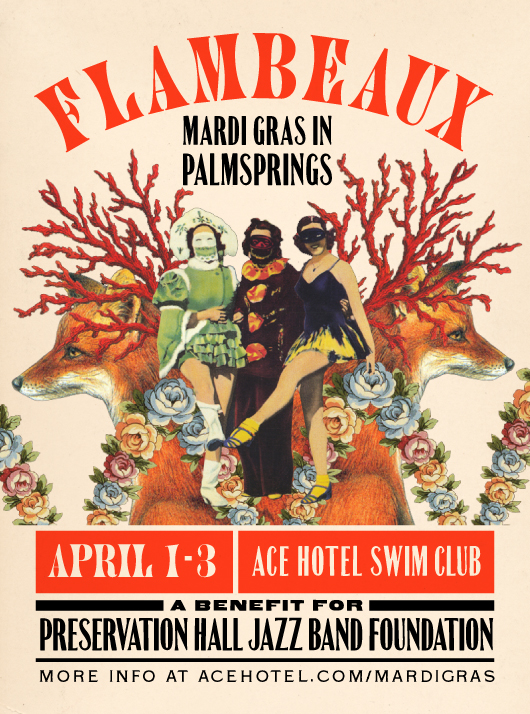 Gracia Haby & Louise Jennison,  Flambeaux , 2011, poster for Ace Hotel