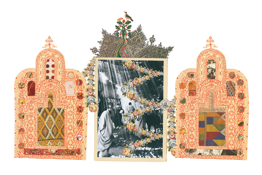 Gracia Haby, 2009, collage for The World of Interiors