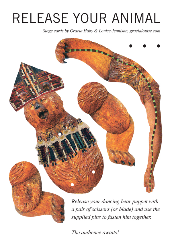 STAGE CARD     Release Your Animal — Dancing Bear Puppet   (insert)