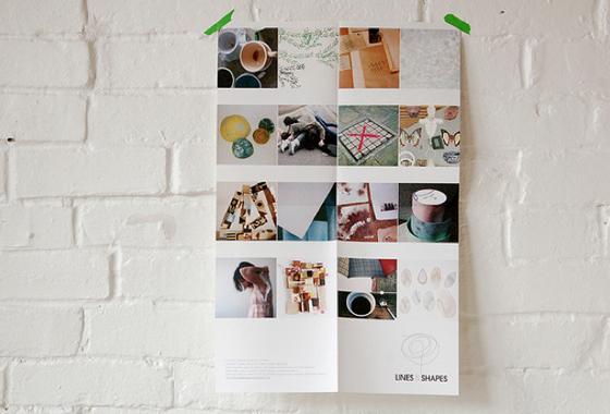 Lines & Shapes, poster (Image courtesy: Maria Alexandra Vettese)