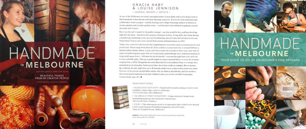 Handmade in Melbourne publication feature in first and second editions