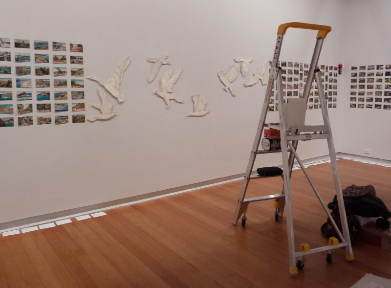 Installing All breathing in heaven, Geelong Gallery, 2013