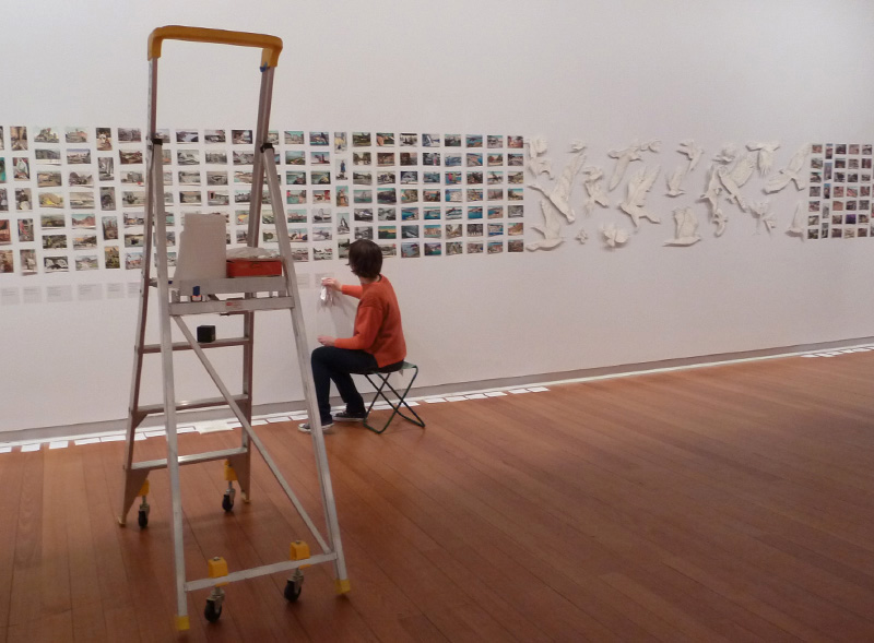 Installing All breathing in heaven, 2013, Geelong Gallery