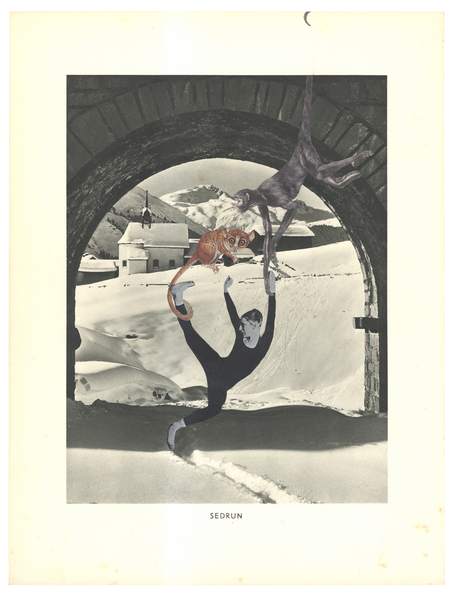 Gracia Haby,  Beautifully staged (Shukumei, c 1975–76) , 2014, collage on ephemera