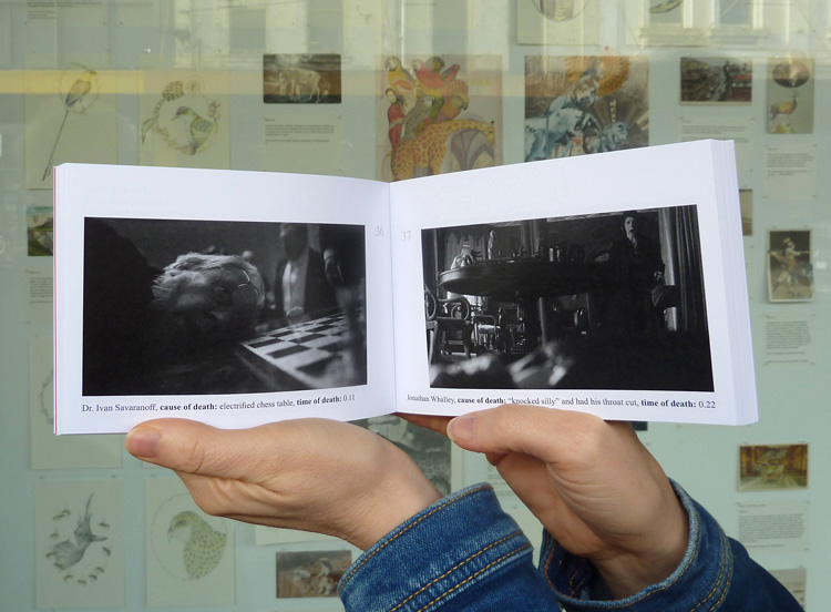 A Catalogue of Bodies, the second edition, before our window display, Not Quite Sure, Port Jackson Press Print Gallery, May 2014