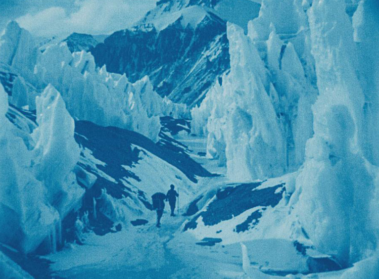 Still from   The Epic of Everest: The official record of Mallory and Irvine's 1924 expedition ,  recently restored by the British Film Institute National Archive
