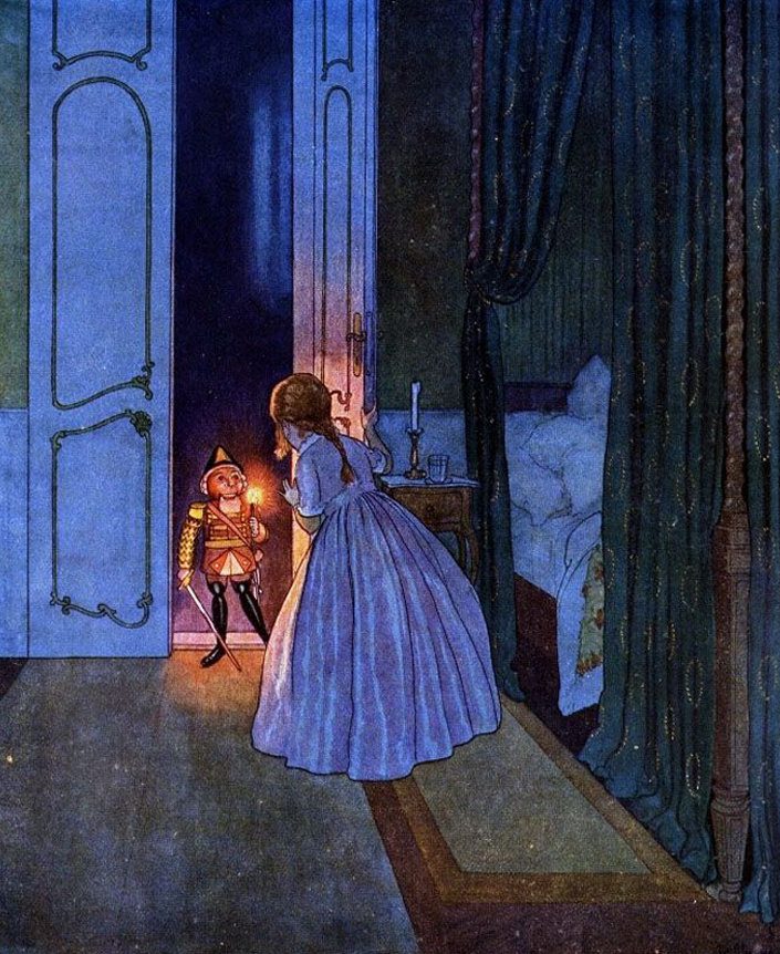 Illustration by Artuš Scheiner (1863–1938) for E. T. A. Hoffmann's The Nutcracker and the Mouse-King (1924)