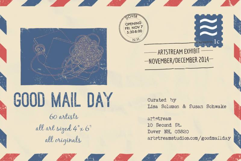 Opening on Friday the 7th of November,  Good Mail Day  is an exhibition of 60 artists curated by Lisa Solomon and Susan Schwake