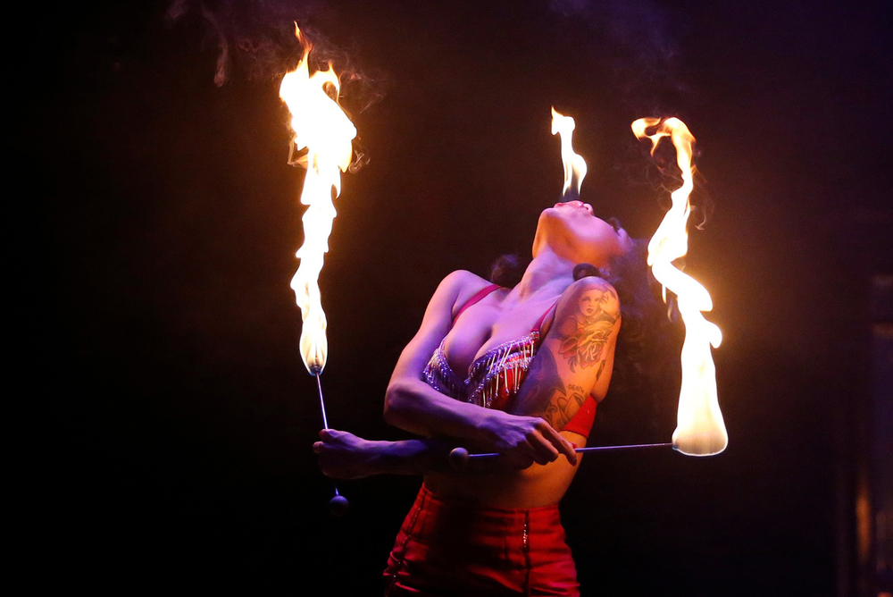 Heather Holliday in Limbo at the Spiegeltent, Melbourne Festival 2015 (Image credit: Tony Virgo)