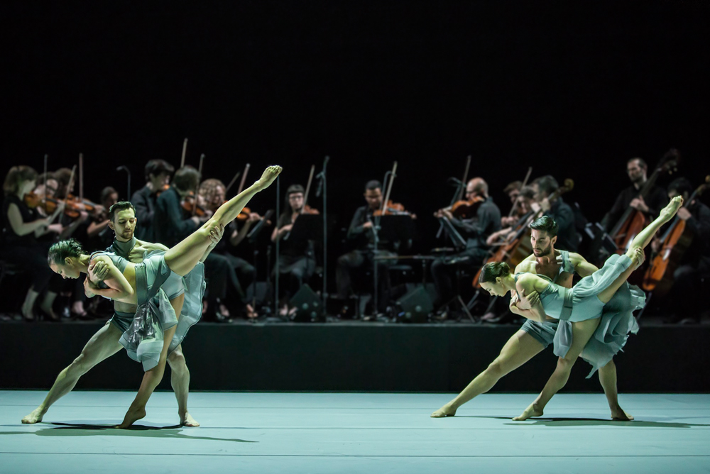 Fiona Jopp, Todd Sutherland, Petros Treklis and Alana Sargent in Variation 10 (Image credit: Peter Greig)
