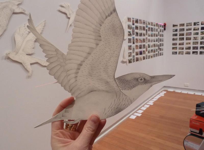 Installing All breathing in heaven, 2013, Geelong Gallery