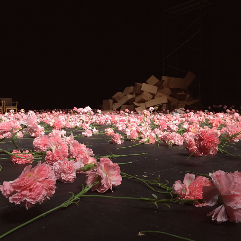 Tickle my soles, colour me jewelled, cnd uplift my soul; ready, so ready, to walk through the Carnations with you, Tanztheater Wuppertal Pina Bausch