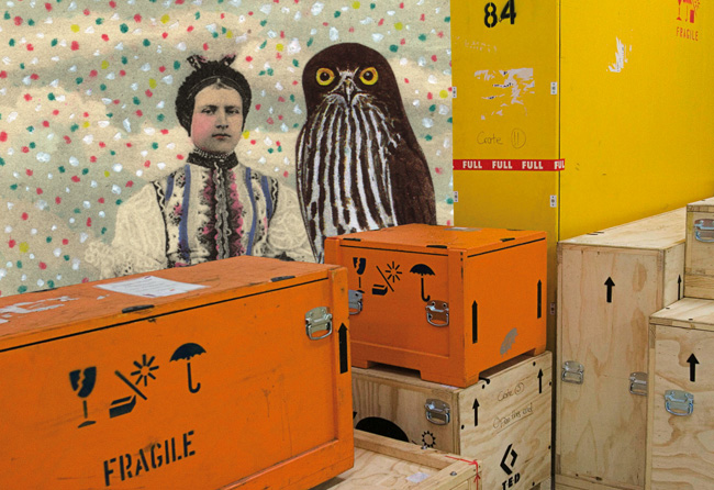 Gracia Haby & Louise Jennison, Keeping an ever watchful eye just to make sure, 2007, collage