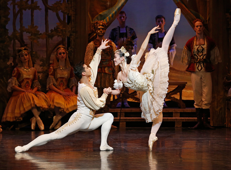 Ako Kondo and Chengwu Guo in Coppélia (Image credit: Jeff Busby)
