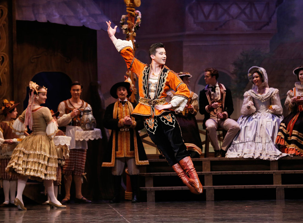 Chengwu Guo as Franz in  Coppélia  (Image credit: Jeff Busby)