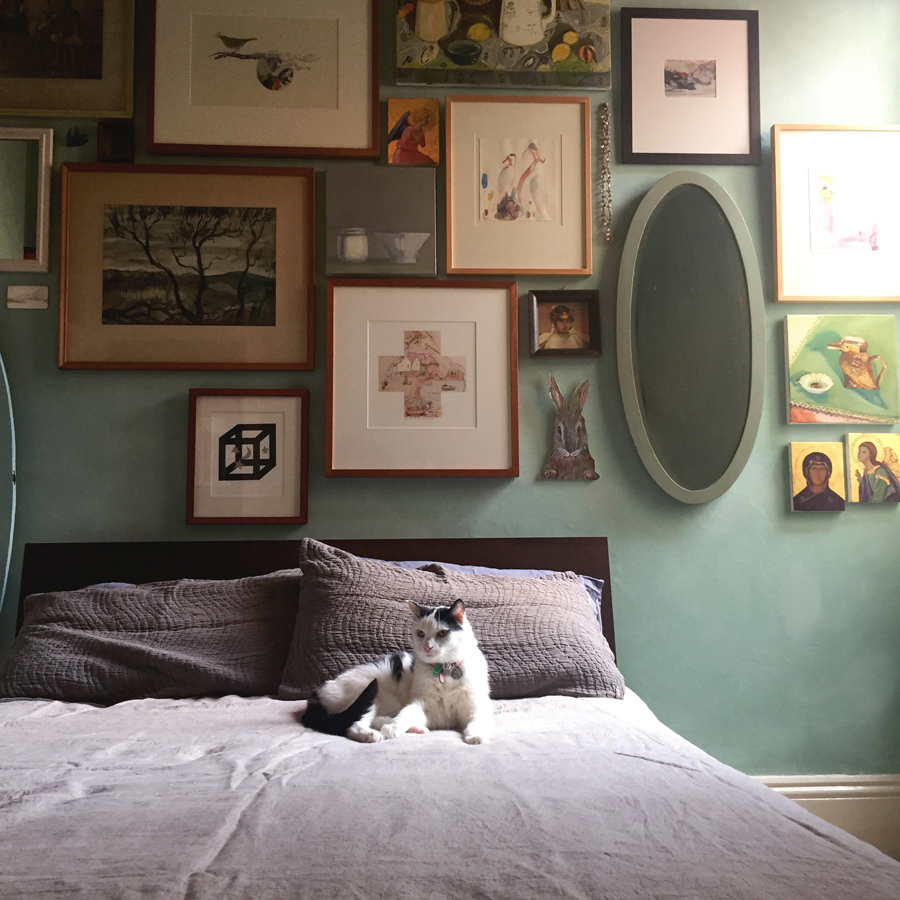 Olive and the Agave distemper bedroom walls