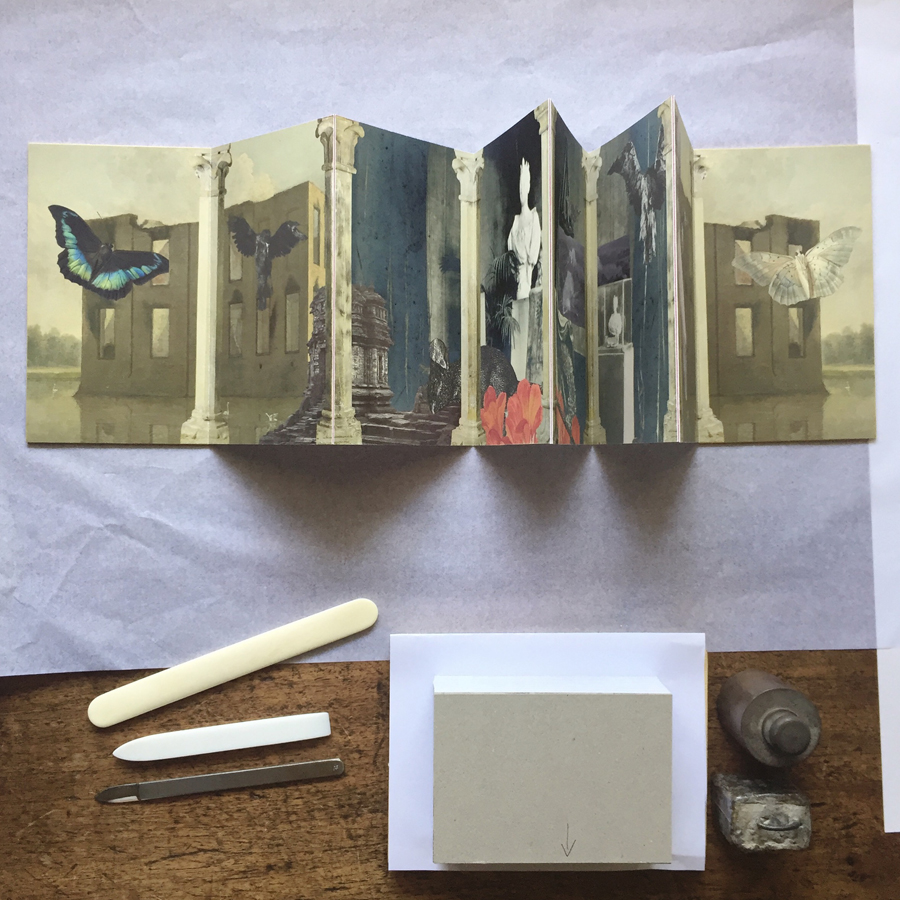 The first edition  of   No longer six feet under  , an 8 page concertina artists' book, inkjet print on Hahnemühle Photo Rag 308gsm, on  #theworkingtable