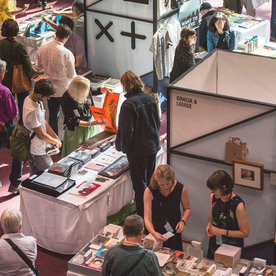 Melbourne Art Book Fair in flight (image credit: Tobias Titz (detail))