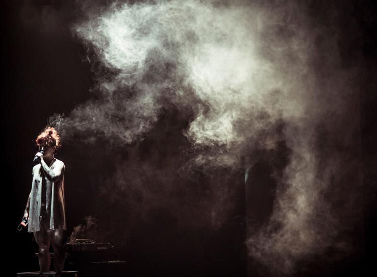Sarah Ronnie Bruce performing in Chunky Move's  Anti-Gravity  (image credit: Pippa Samaya)