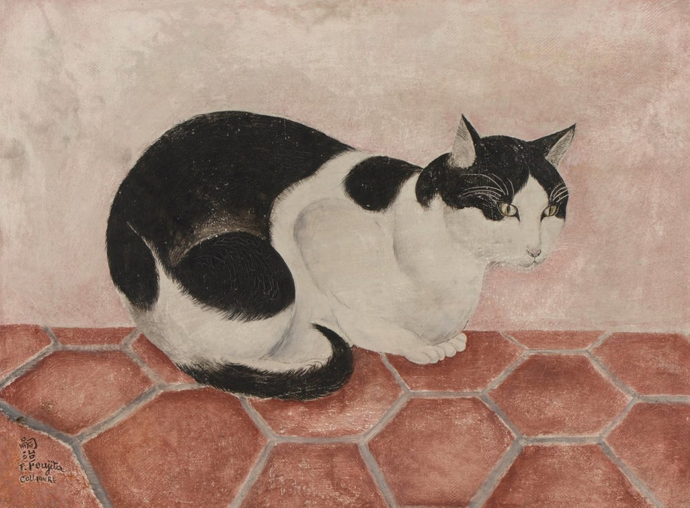 Léonard Tsuguharu Foujita's (1886–1968)  Black and White Cat , 1920