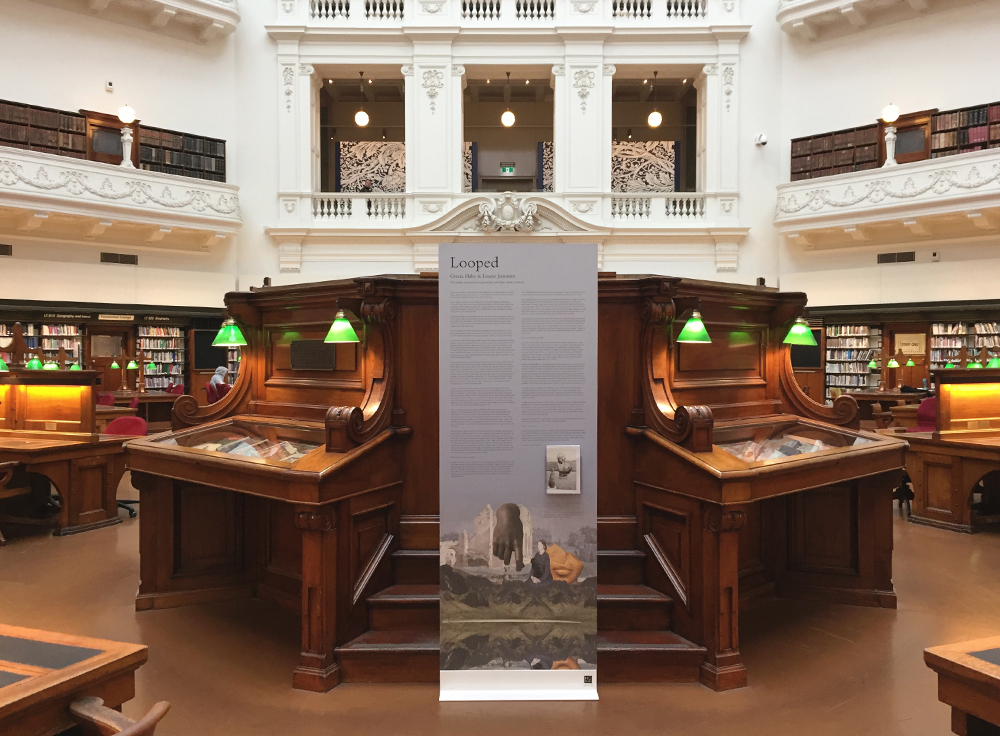Gracia Haby & Louise Jennison,  Looped , La Trobe Reading Room, State Library of Victoria, 2017