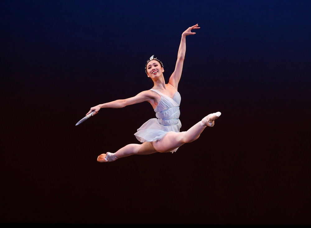 Ako Kondo as Diana in  Diana and Actaeon , presented as part of  Symphony in C  (image credit: Jeff Busby)
