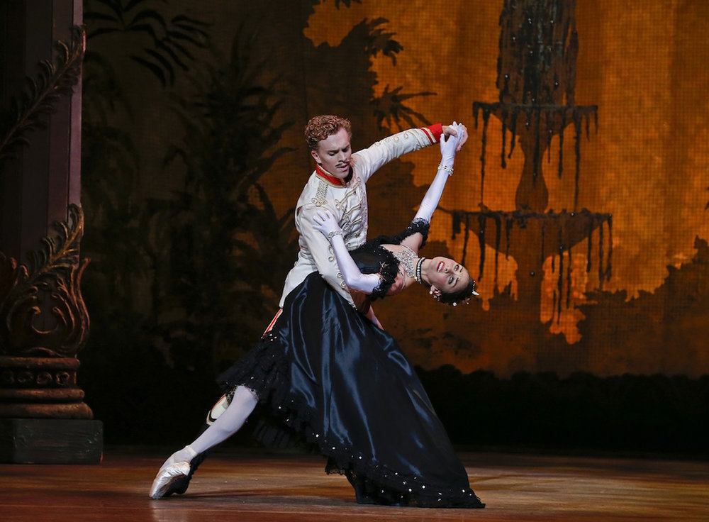 Adam Bull and Kirsty Martin in  The Merry Widow  (image credit: Jeff Busby)