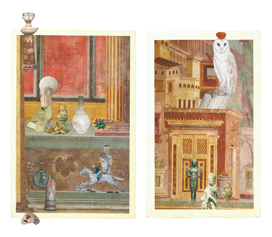 Gracia Haby, 2008, collage for The World of Interiors